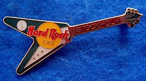 Stockholm-Suedois-Paix-Signe-Vert-Gibson-Flying-V-Guitare-Hard-Rock-Cafe-Broche