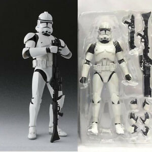 Anime-Super-Hero-Star-Wars-Clone-Trooper-PHASE-II-Captain-Action-Figure-Toy-NB