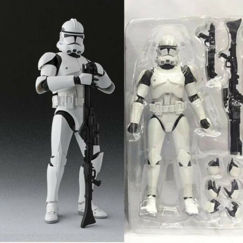 6/'/' SHF S.H.Figuarts Star Wars Clone Trooper PHASE II Captain Action Figure Toy