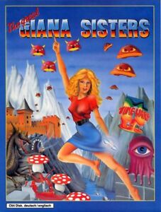 Details about Framed Print - Great Giana Sisters Commodore Amiga C64 Game  Cover (Picture Art)