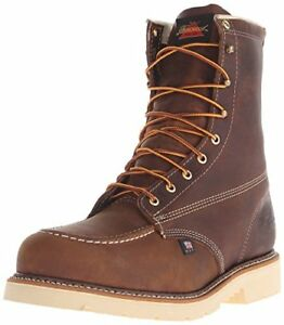 3e5a52c2288 Details about Thorogood Men's American Heritage 8 Inch Safety Toe Lace-up  Boot Brown