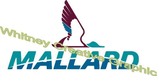 Mallard  RV LOGO Graphic decal lettering Full Color White Wing Version 2
