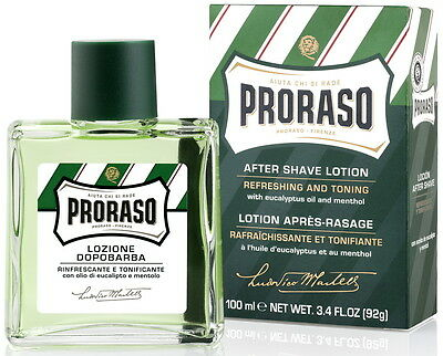 PRORASO MEN AFTER SHAVE LOTION EUCALYPTUS OIL & MENTHOL PACKED 100ml