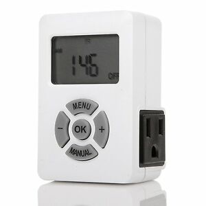 NEW CENTURY TIMER 7 Day Weekly Programmable Digital Timer Outlet Switch 3 Prong