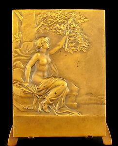 Medaglia-Naked-Donna-Scoperte-Sc-Charles-Pillet-a-L-Jame-st-Eloi-1941-Medal
