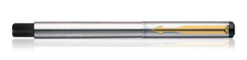 GT Fountain Ink Pen Trim Fine New Boxed Converter Parker Vector Steel Gold Nib