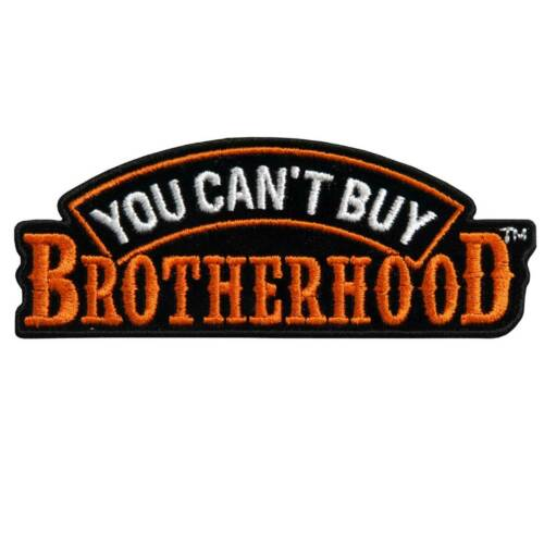 "You can /'t buy Brotherhood Patch 4/"" ricamate moto colore solido ricamati TESCHIO"