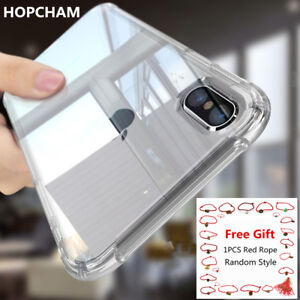 For-iPhone-7-Plus-6s-XS-Case-Soft-Silicone-Clear-Transparent-Slim-Gel-TPU-Rubber