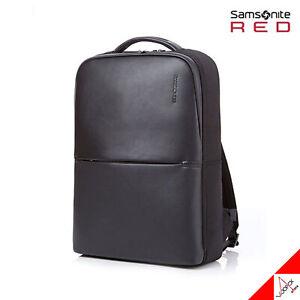 Samsonite-RED-NEUMONT-3-New-Backpack-Black-Modern-Laptop-Bag-GY009001-PE-PU