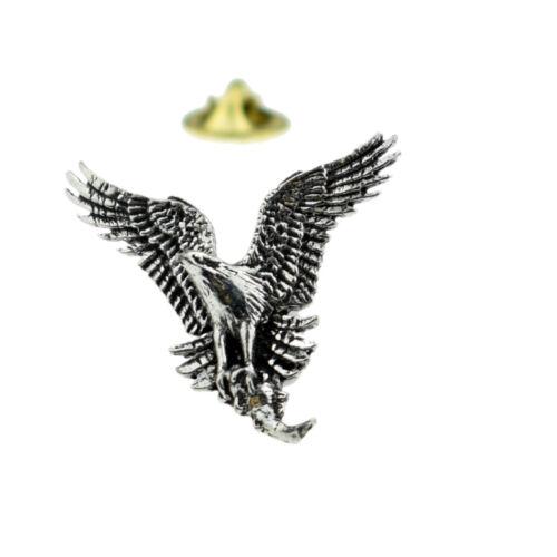 Osprey Bird English Pewter Lapel Pin Badge XTSPBB44