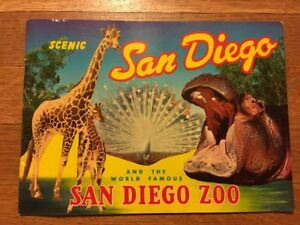 scenic san diego zoo vintage 1962 california travel brochure