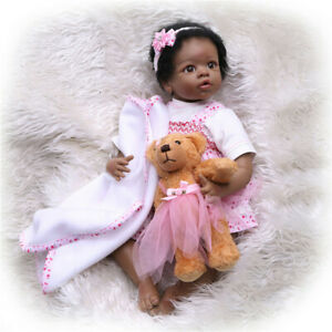 Handmade-Lifelike-African-American-Silicone-Dolls-Reborn-Baby-Doll-Xmas-Gifts