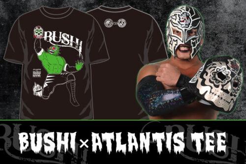NJPW Kinnikuman Collaboration BUSHI × Atlantis T-shirt Limited item from Japan