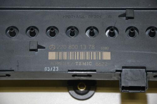 Mercedes W220 S-Klasse Sitz Steuergerät hinten Ventil Control Unit A 2208001378