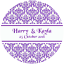 DAMASK-STYLE-PERSONALISED-WEDDING-BIRTHDAY-BUSINESS-STICKERS-CUSTOM-SEALS-LABELS thumbnail 23