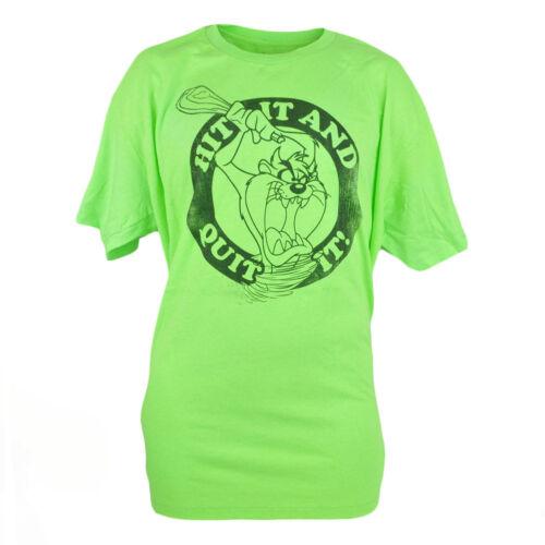 Looney Tunes Tasmanian Devil Taz Hit It And Quit It Neon Graphic Tshirt