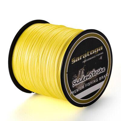 8 fios Amarelo Extreme Dyneema Pe Braid Linha De Pesca 100//300M//500M//1000M//2000M