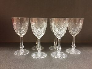 6-verres-en-cristal-de-Sevres-Modele-034-Nevada-034-FRANCE-H-150-mm-PARFAIT-ETAT