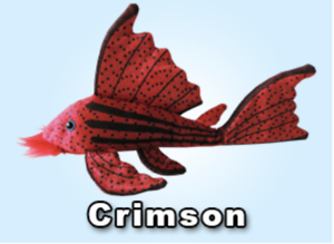 Plecostomus Plush Plushie toy sucker fish Crimson