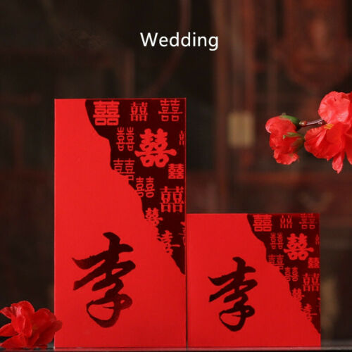 30//50pcs//Set Hundred Surnames Red Packet Lucky Money For Lunar New Year Wedding