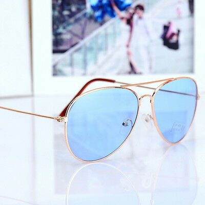 UV400 Men Women Hot Retro Metal Frame Outdoor Sunglasses Reflective Lens