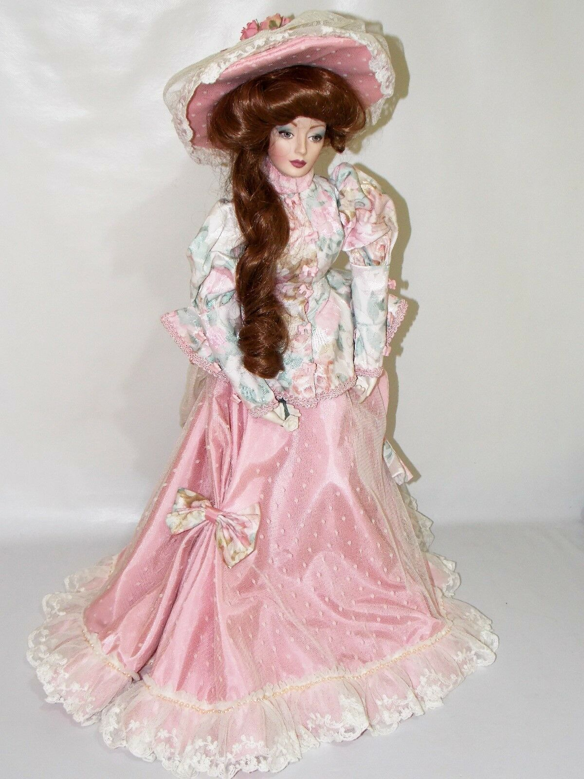 Muñeca porcelana Victoriana Franklin Mint    doll franklin mint Victorian