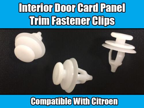 20x Clips For Citroen Interior Door Card Panel /& Trim Saxo Xsara Berlingo Xantia