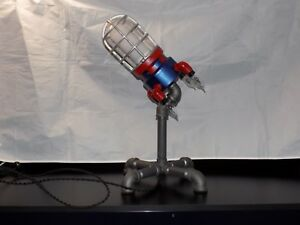 Details about ROCKET LAMP SCULPTURE, CROUSE HINDS LIGHT FIXTURE, MCM ART,  UPCYCLED, REPURPOSED