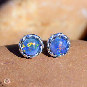 Twist-Wire-Natural-Australian-Triplet-Opal-Earrings-925-Sterling-Silver