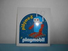 16.9.25.7 RARE Autocollant PLAYMOBIL PLAYMO-X espace robot space vintage