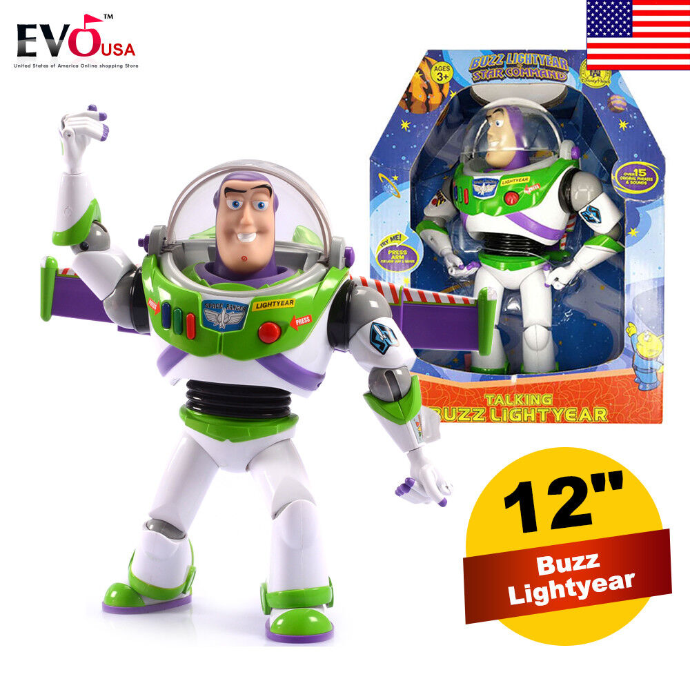 12  Toy Story Story Story Buzz Lightyear Ultimate Talking Action Figure Toy w  15 phrases cf764a