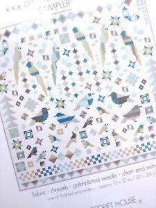Kit Punto De Cruz Kit de muestreo de estilo patchwork aves por riverdrift House