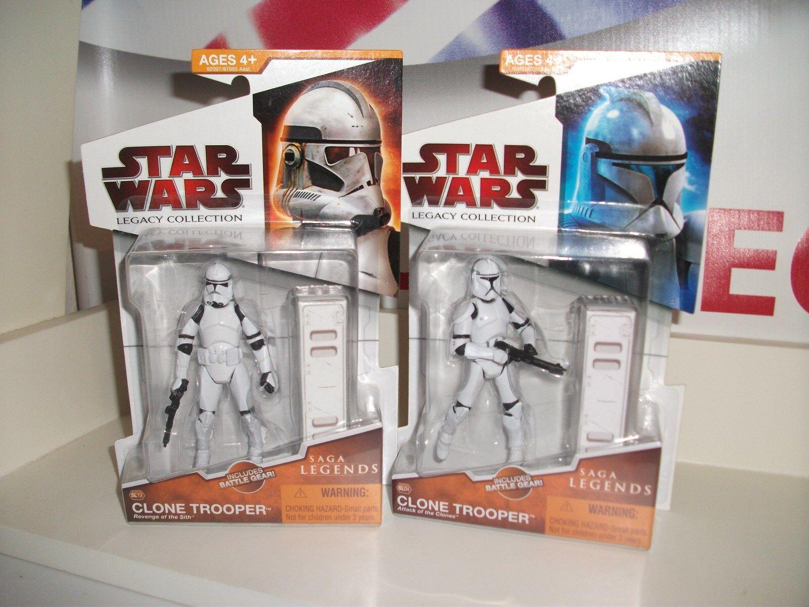 Star wars saga legends CLONE TROOPER job lot bundle AOTC redS MINT ON CARDS