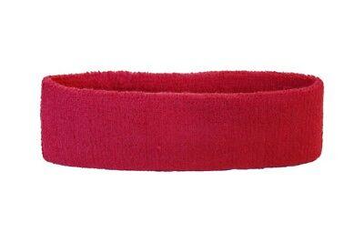 Stirnband Einfarbig Rot 6x21cm Schweißband für Sport Headband