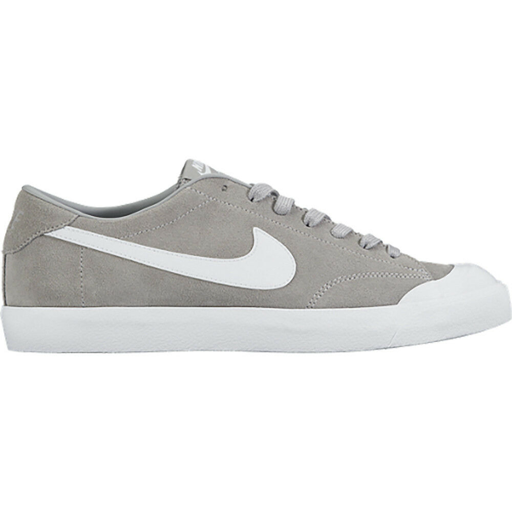 Nike ZOOM ALL COURT CK Wolf Grey White Casual Skate 806306-011 (601) Men's Shoes