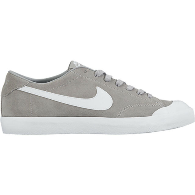 release date 9dad1 44a9d Nike ZOOM ALL COURT CK Wolf Grey White Casual Skate 806306-011 (601)
