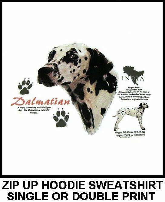 VERY COOL DALMATIAN FIREMAN FAVORITE FIRE DOG ART ZIP HOODIE SWEATSHIRT 745