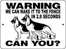 """GERMAN SHEPHERD  DOG SIGN,9/""""x12/"""" ALUMINUM SIGN,SECURITY,WARNING,H2496C5"""