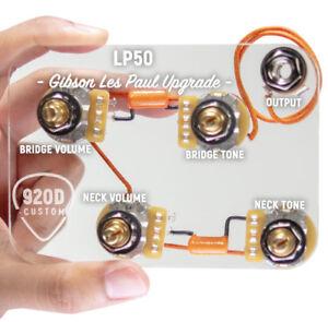 920D-LP50-L-pre-cable-Wiring-Harness-Kit-avec-de-longues-tiges-pour-Gibson-Les-Paul
