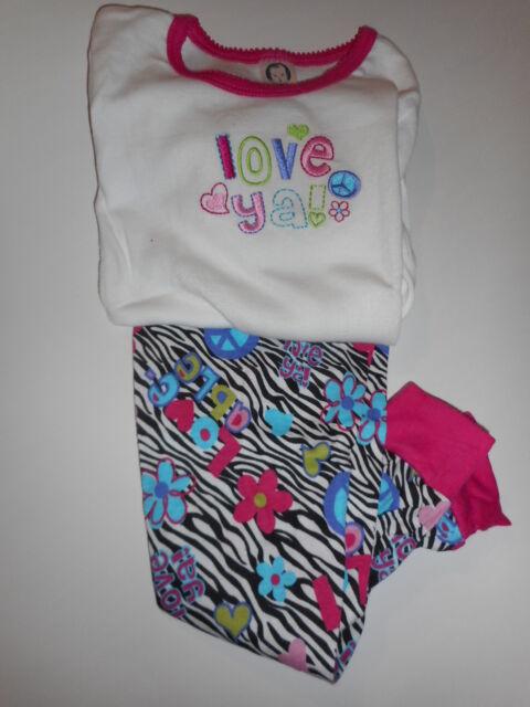 2865ce6fb0d7 Gerber Pajama Set Cotton Multi Colored Long Sleeve Girls Toddler ...