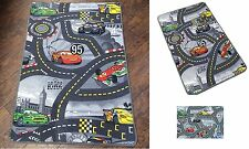 Disney Pixar Race Cars Track Children Play Mat Non Slip Kids Rug Runner 80x120cm