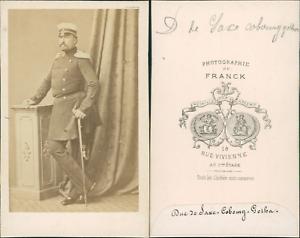 Duc-de-saxe-Cobourg-Gotha-vintage-CDV-albumen-carte-de-visite-Le-duche-de-Saxe