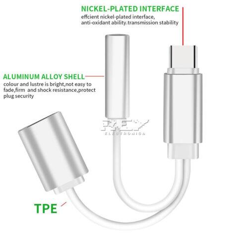 USB Tipo C para XIAOMI MI 6X Adaptador USB Tipo C a Jack Hembra MI A2 v504