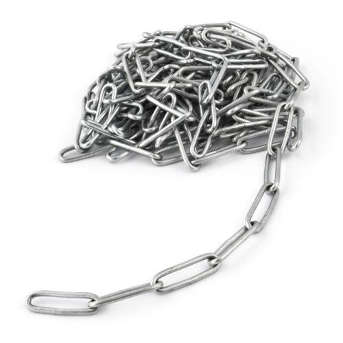 4mm STEEL CHAIN welded short and long links industry galvanised metal heavy duty