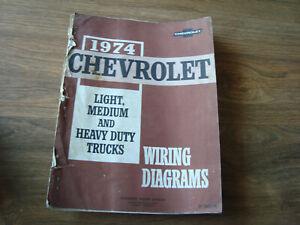 1974 Chevrolet Light Medium Heavy Duty Trucks Wiring ...