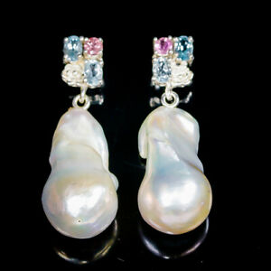 Hot-Selling-handmade-Natural-Baroque-Pearl-925-Sterling-Silver-Earrings-E31984