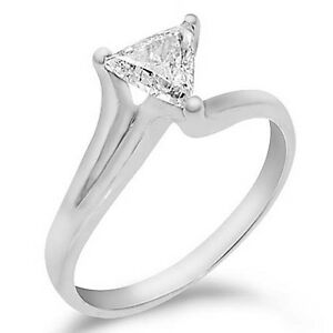 12CT WOMENS SOLITAIRE TRIANGLE TRILLION CUT DIAMOND ENGAGEMENT RING