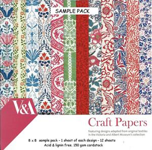 DOVECRAFT VICTORIA /& ALBERT V /& A 8 x 8 Design Sample Paper Pack 150 gsm