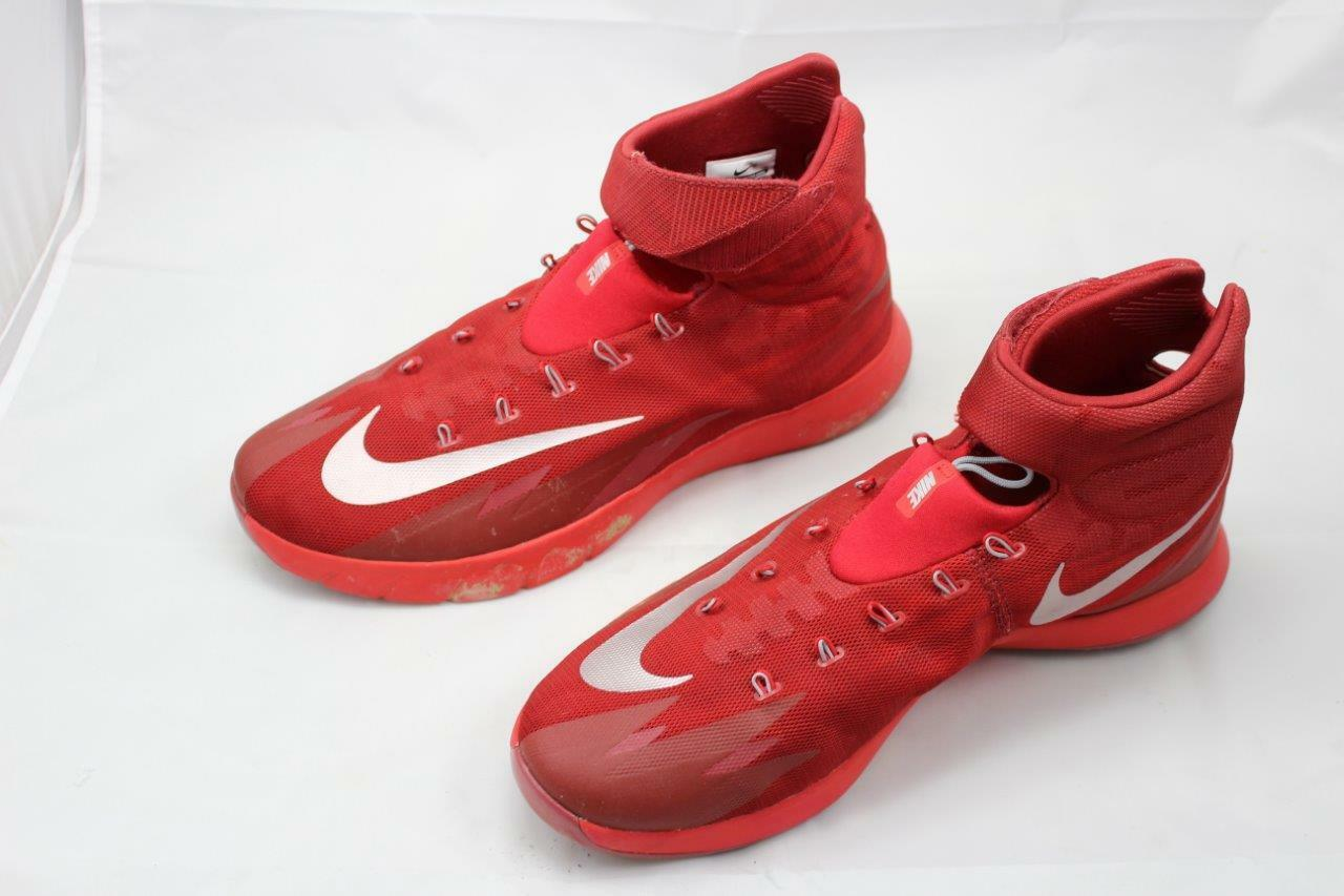 Nike Zoom HyperRev 643301-604 RED Silver Basketball shoes Men's 14 NCAA