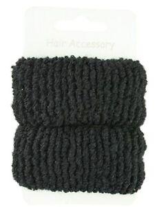 Pair-of-Large-Soft-Hair-Donuts-Ponios-Bobbles-Hair-Bands-Hair-Accessories